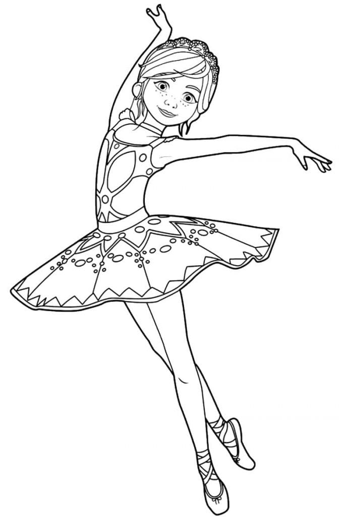 Molde de bailarina para imprimir Desenhos para pintar infantil
