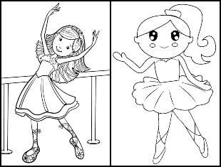 Desenhos para colorir de bailarina