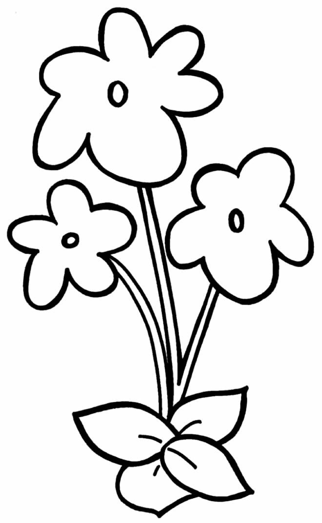 Desenho lindo de flores para colorir