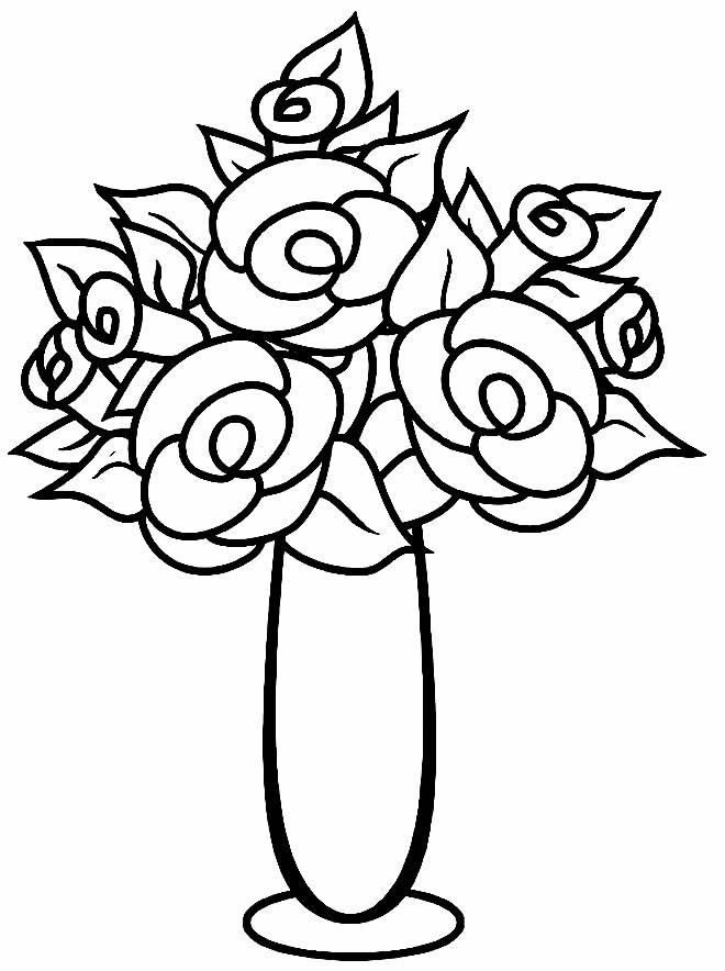Desenho lindo de flores para pintar