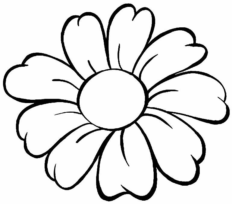Desenho lindo de flor para pintar