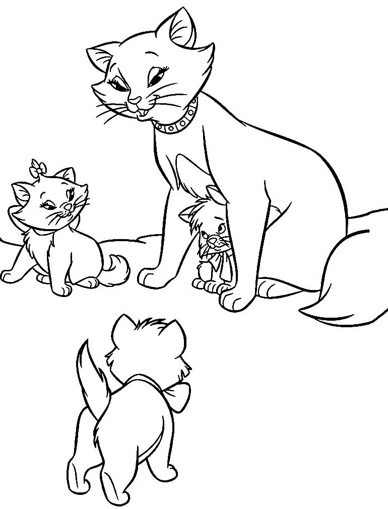 Desenho de gatinhos