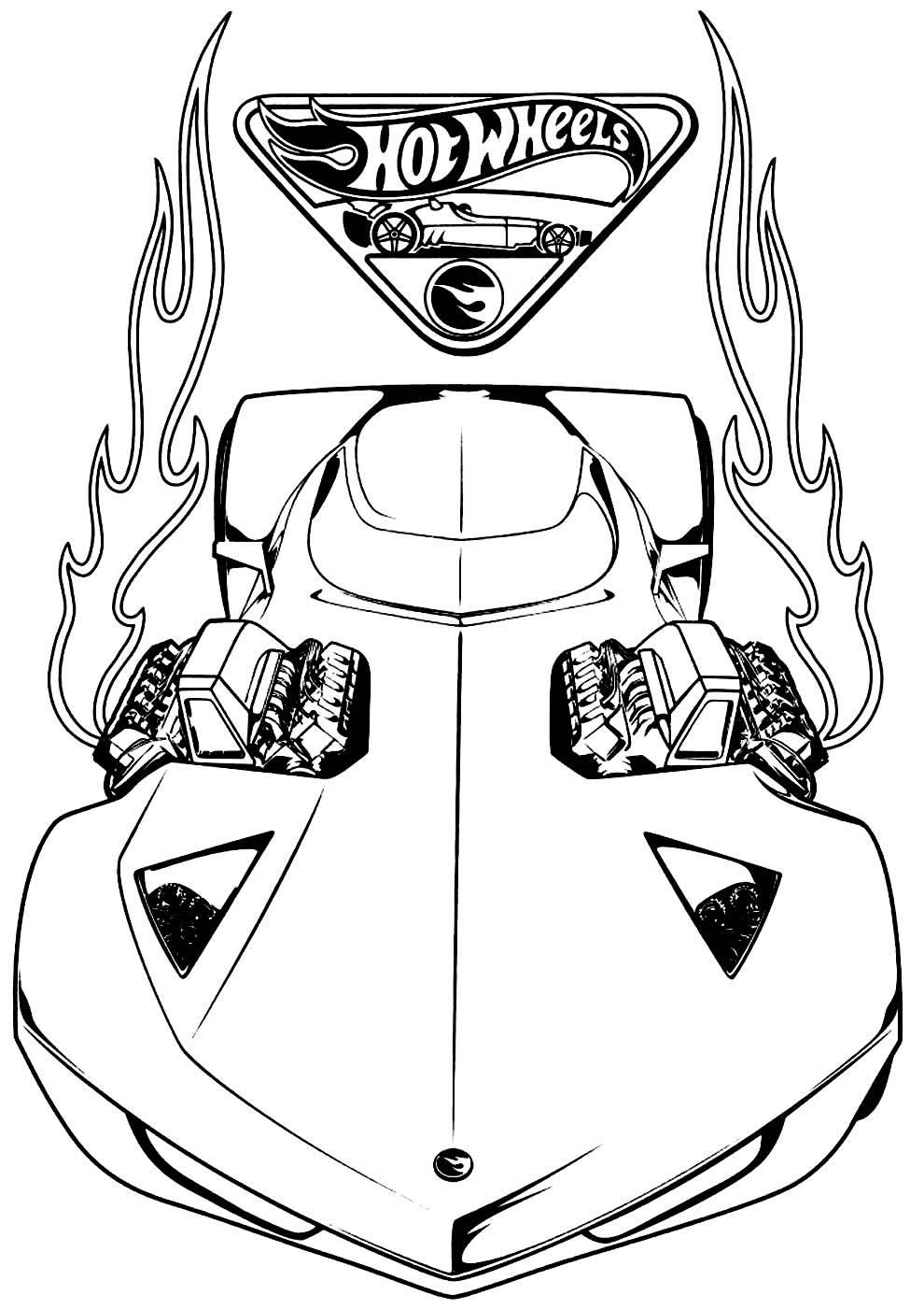 Imagem Hot Wheels para colorir