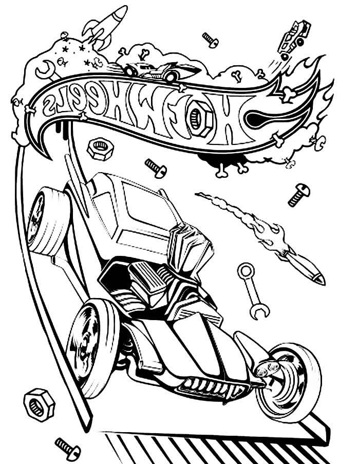 Imagem Hot Wheels para pintar
