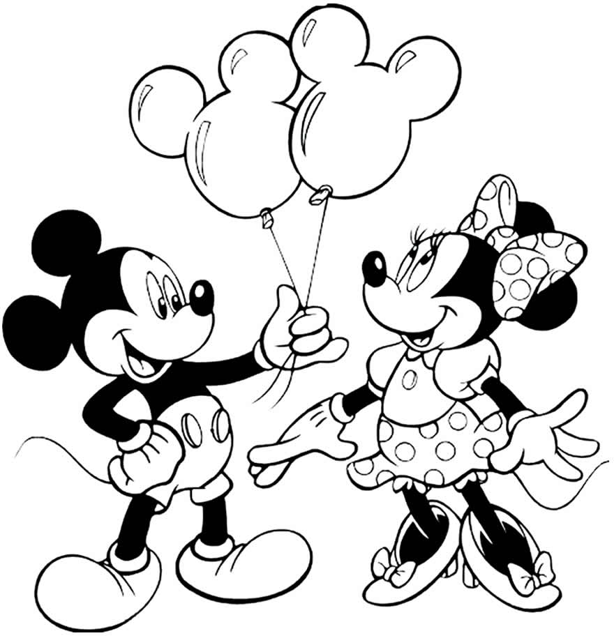 Imagem divertida do Mickey e da Minnie