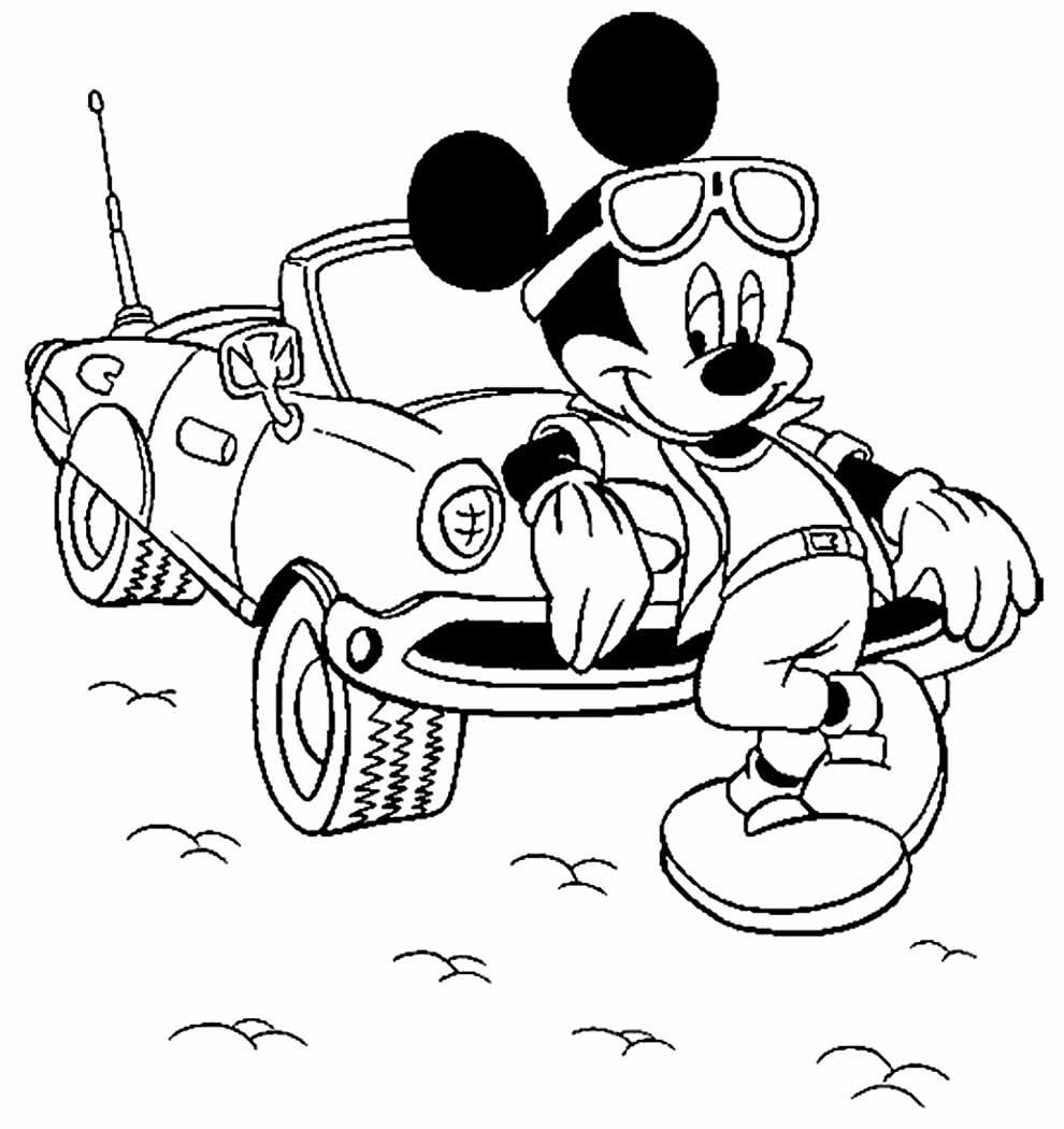 Desenho para colorir do Mickey Mouse