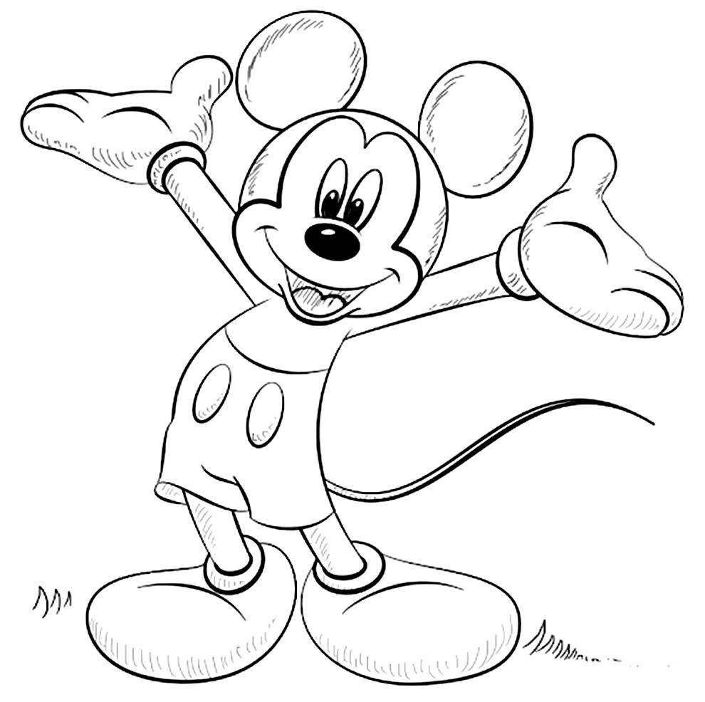 Desenho para colorir do Mickey