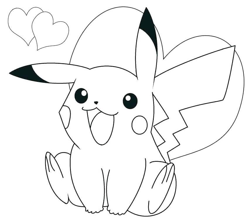 Imagem de Pikachu para pintar