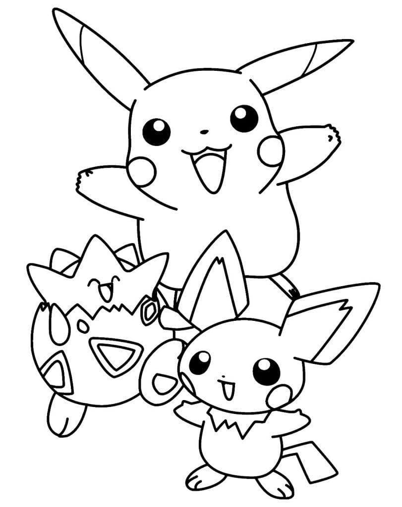Desenho de Pikachu para colorir