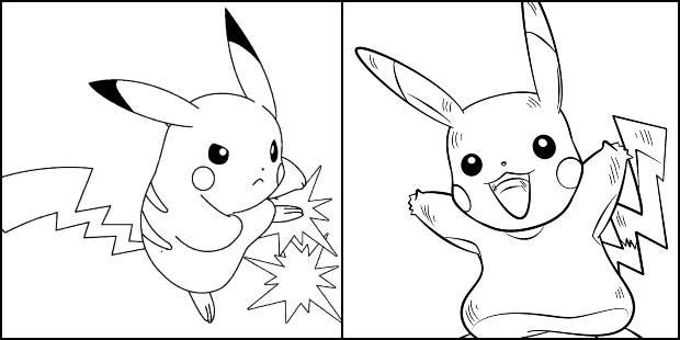 Desenhos de Pikachu para imprimir e colorir