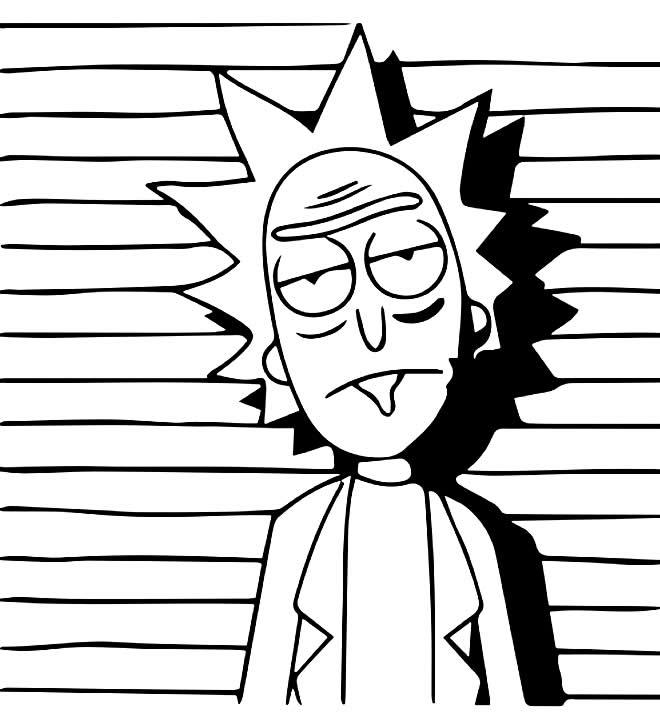 Desenho de Rick e Morty para colorir
