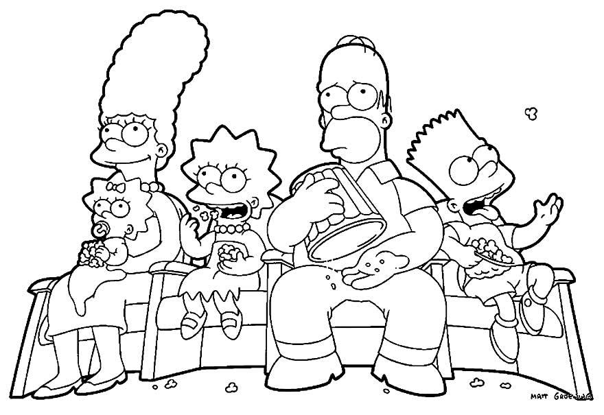 Família Simpson - Desenhos dos Simpsons