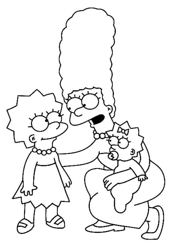 Desenho dos Simpsons - Margie e Lisa