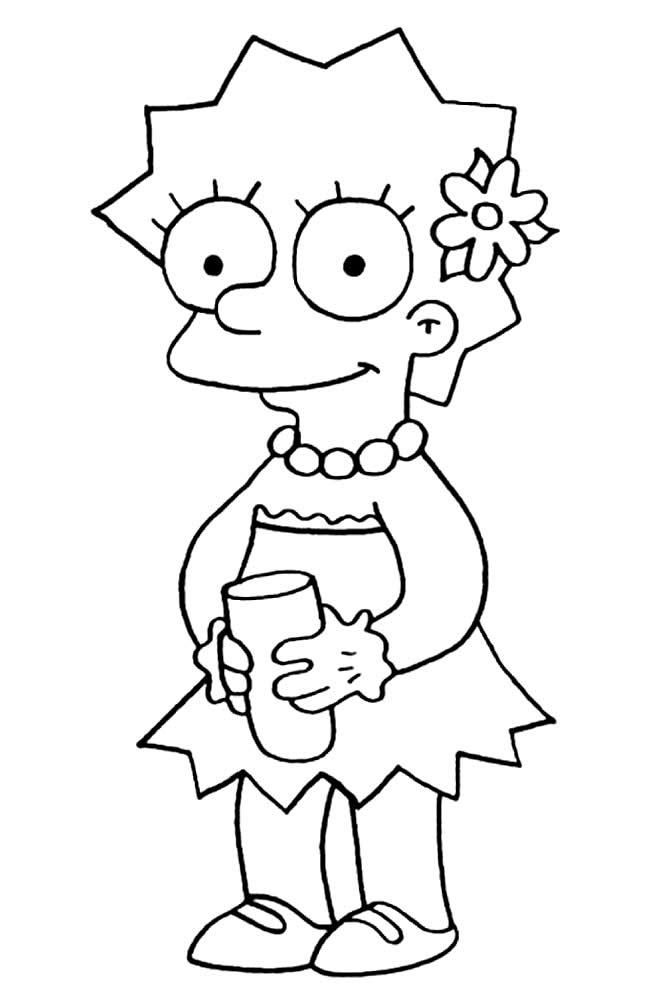 Desenho dos Simpsons - Lisa