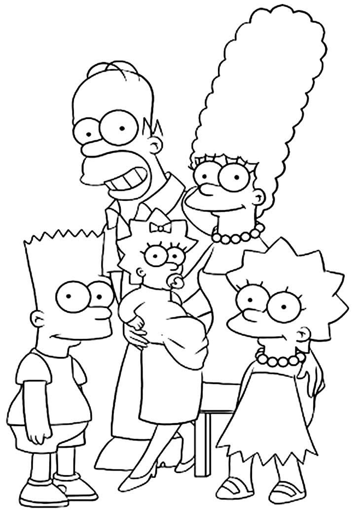 Os Simpsons - Imagens para pintar