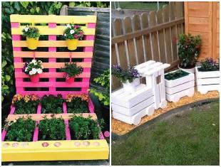 Ideias com pallets para fazer no jardim