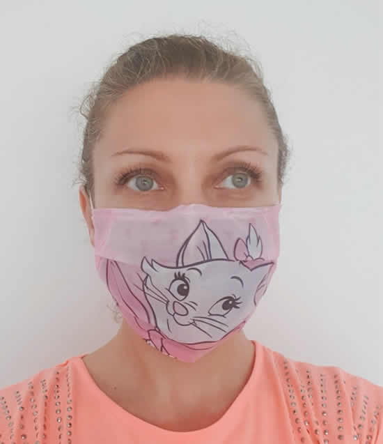 Máscara de tecido passo a passo