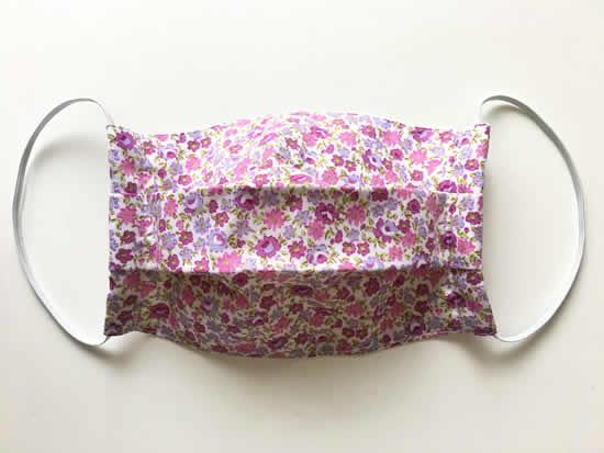 Máscara de tecido com patchwork
