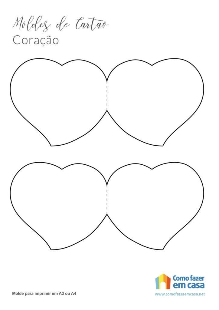 Molde de coração para imprimir