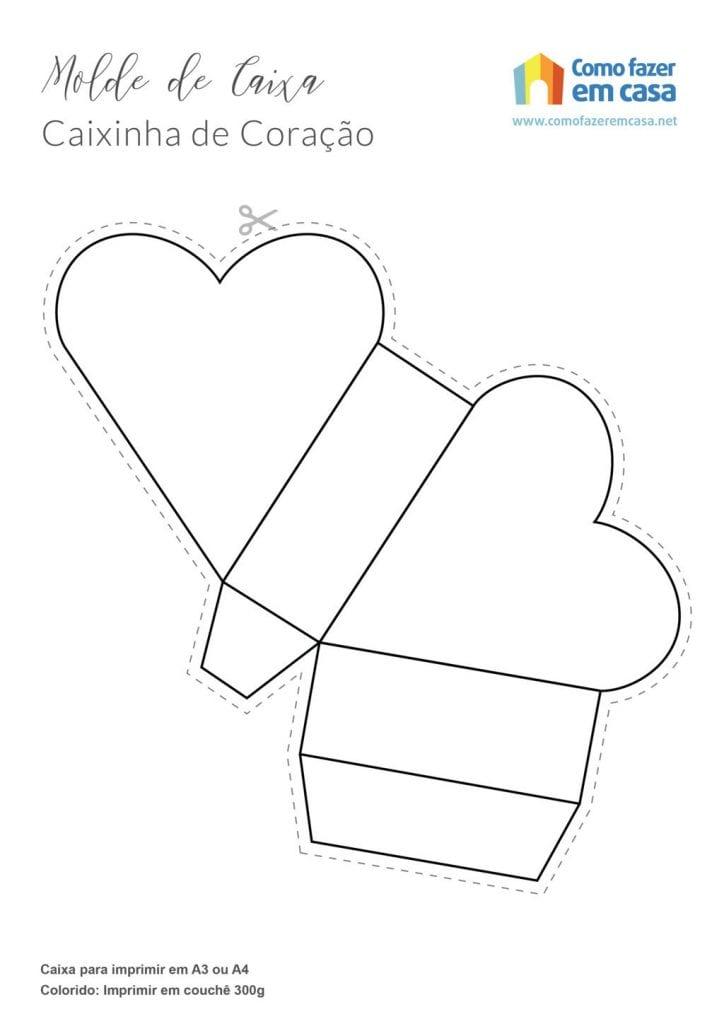 caixa de coração 3d