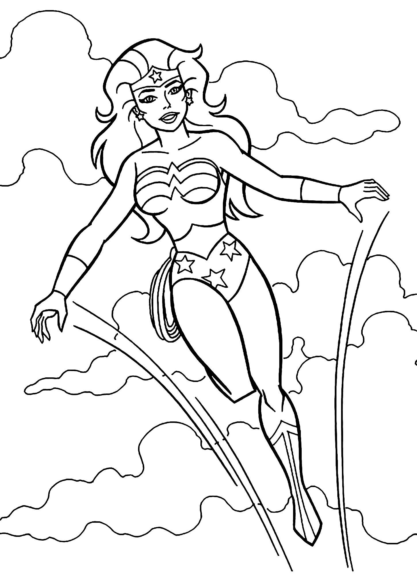 Desenho de Mulher Maravilha