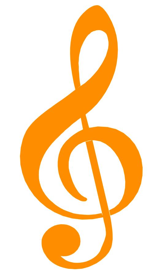 Molde de nota musical colorida para imprimir
