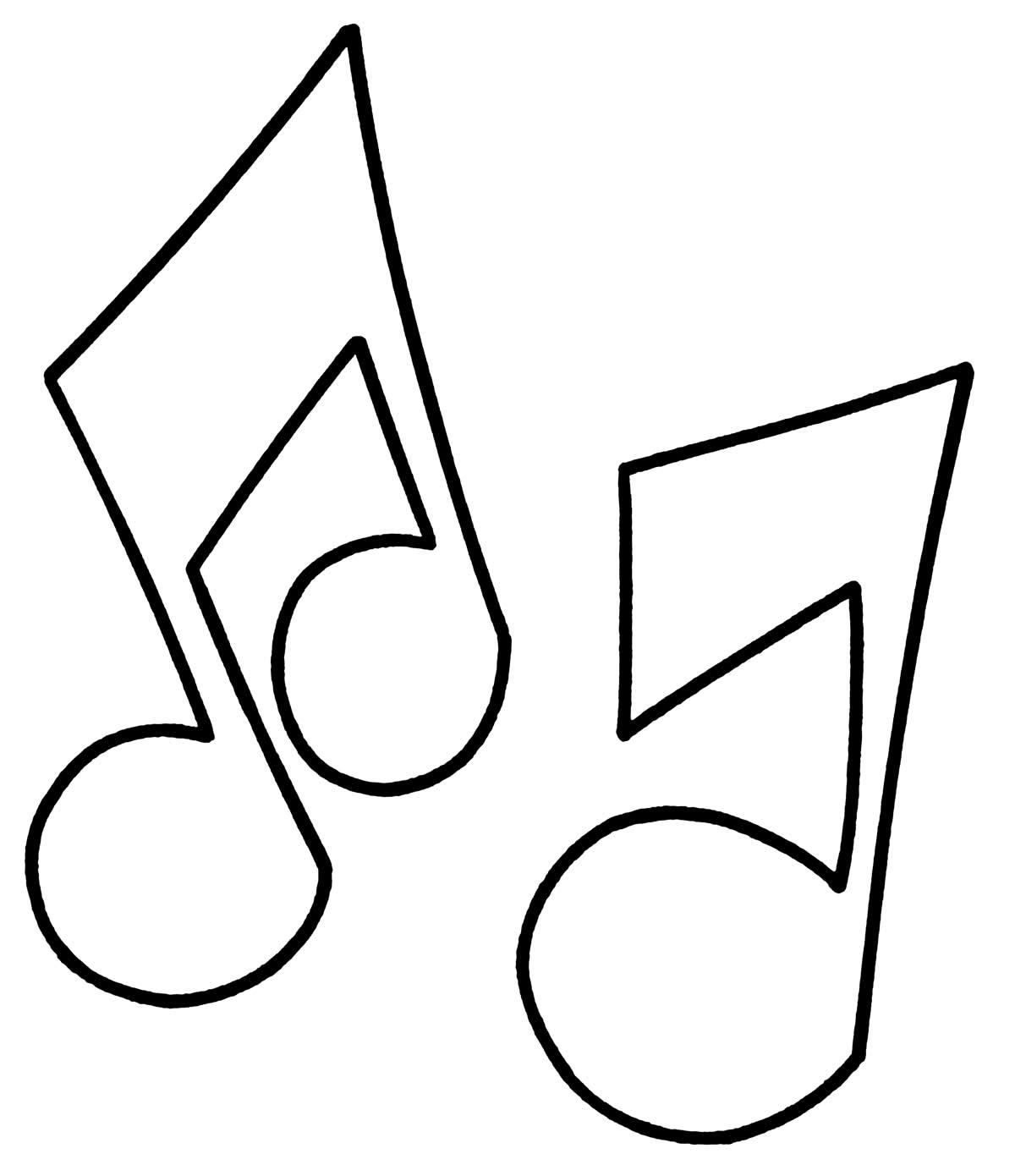 Desenho de nota musical para colorir