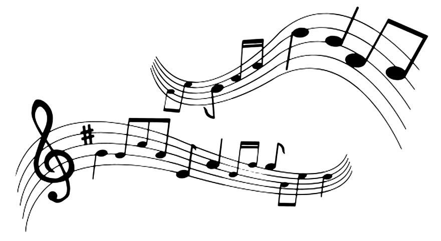 Moldes de notas musicais para imprimir