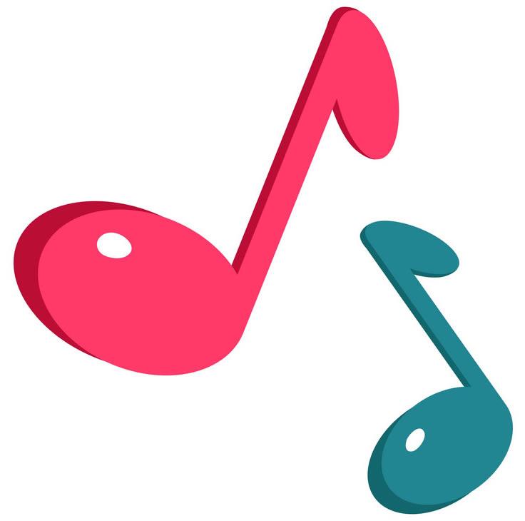 Notas musicais coloridas para imprimir