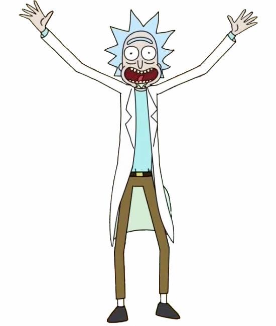 Molde colorido de Rick e Morty