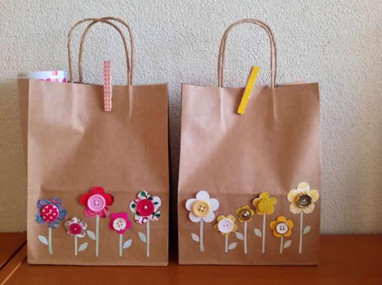 Sacolinhas de papel decoradas
