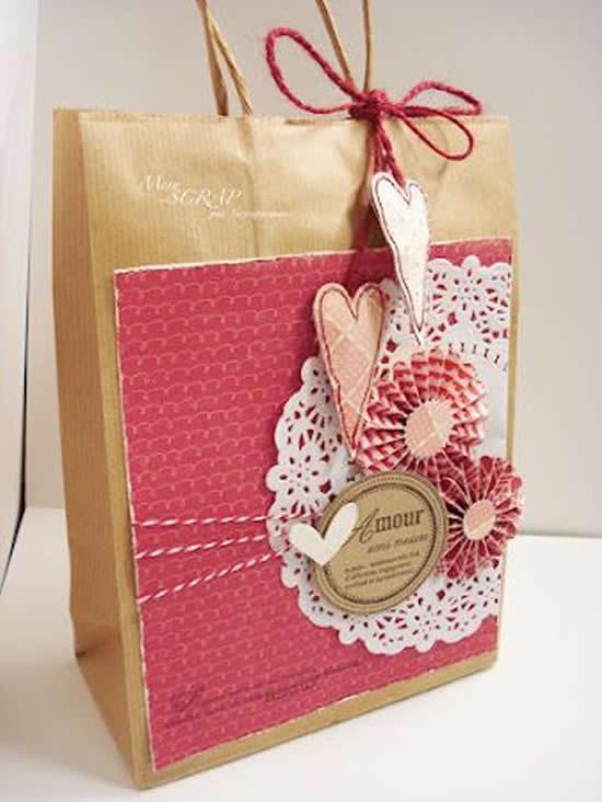 Sacolinha de papel decoradas