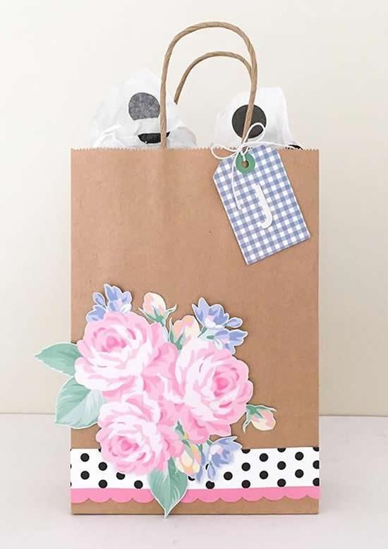Sacolinha de papel linda e decorada
