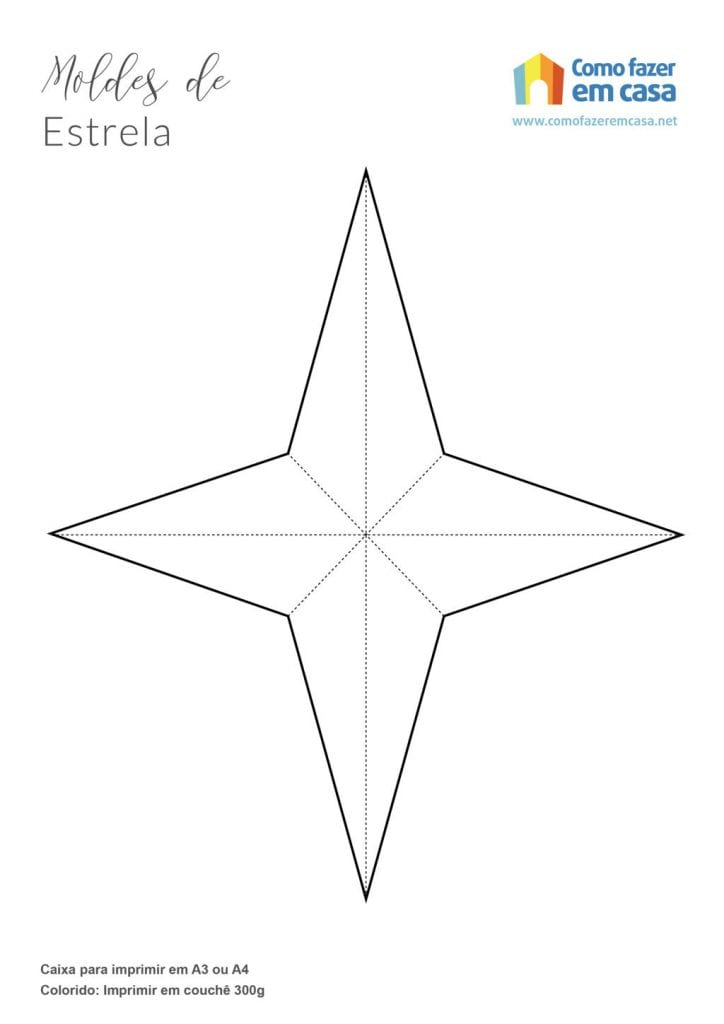 estrela de 4 pontas