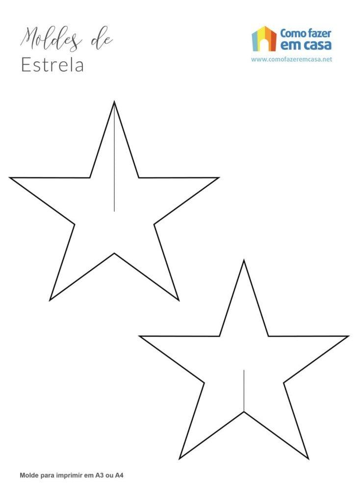 Molde de estrela para imprimir