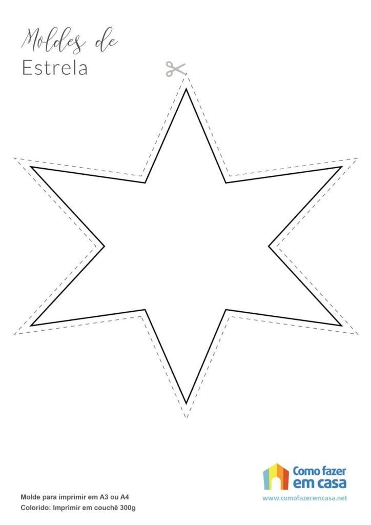 Molde de estrela para imprimir estrelas de 8 pontas