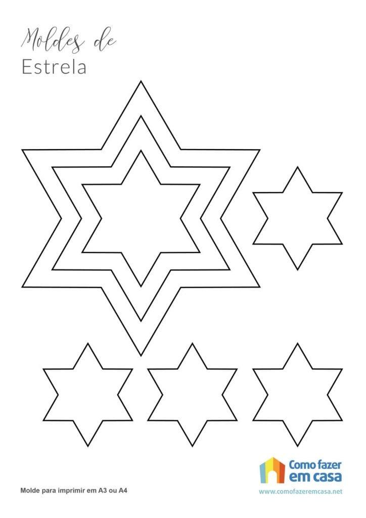 Molde de estrela para imprimir estrela de davi