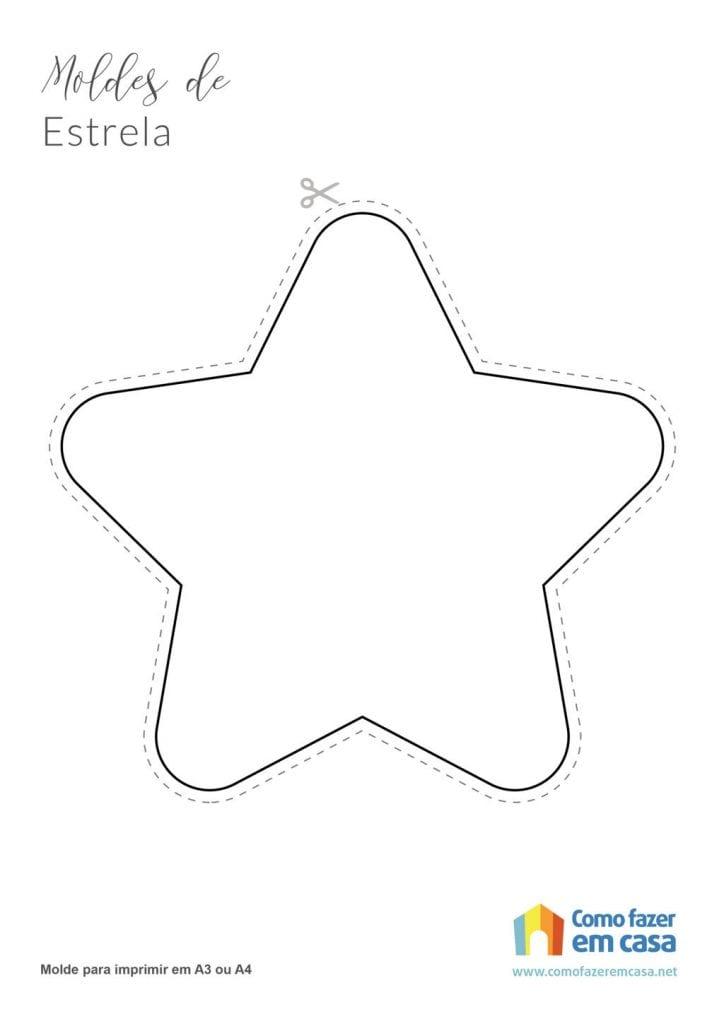 Molde de estrela para imprimir estrela fofinha redonda