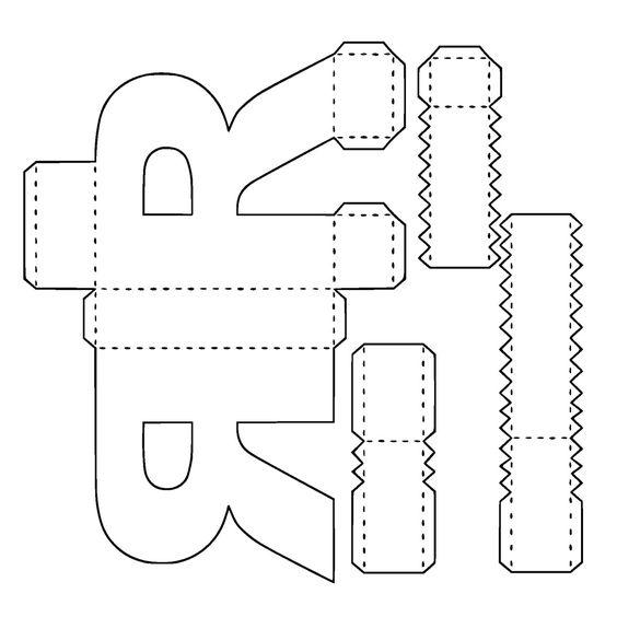 Como fazer letras 3d