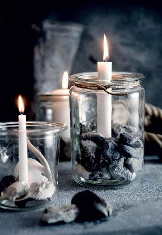 Enfeites lindos e criativos com potes de vidro