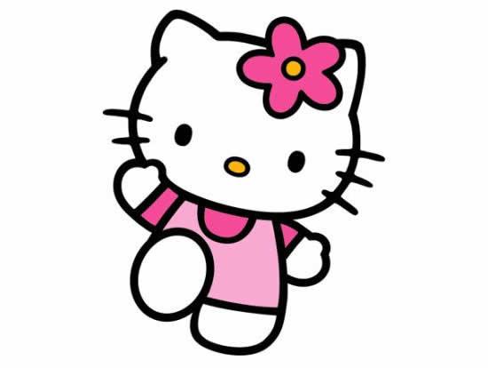 Desenho para colorir de Hello Kitty
