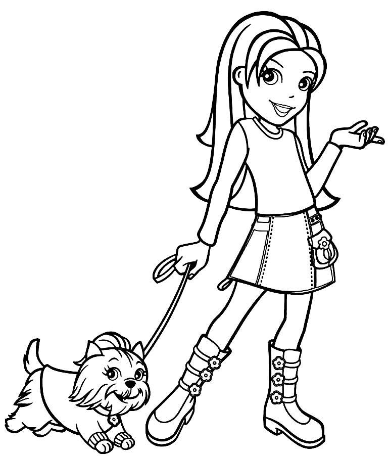 Desenho da Polly Pocket para colorir