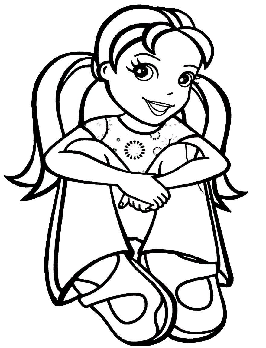 Desenhos para colorir de Polly Pocket