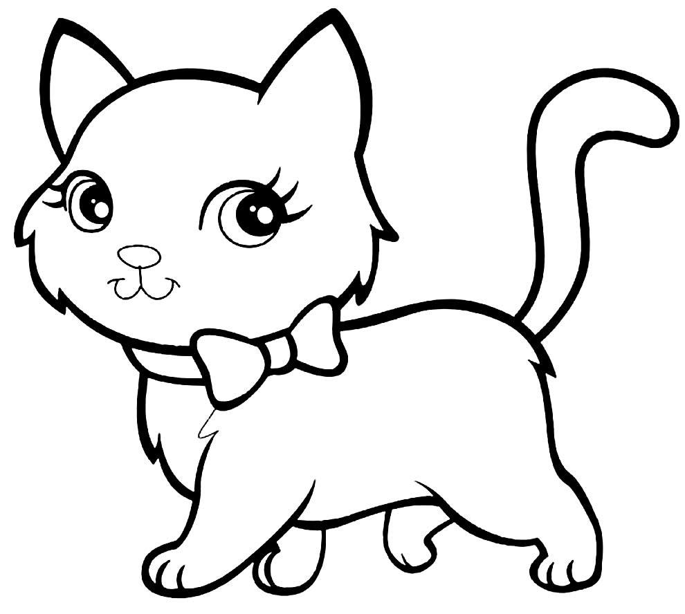 Desenho para colorir do gato de Polly Pocket