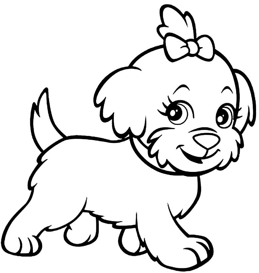 Desenho para colorir do cachorrinho de Polly Pocket