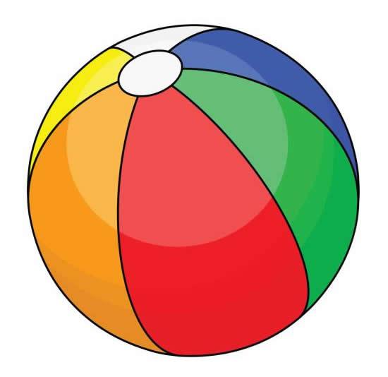 Desenho de bola colorida