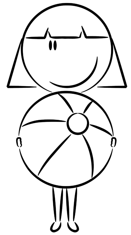 Desenho de bola para pintar
