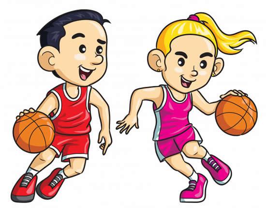 Desenho de jogadores de basquete