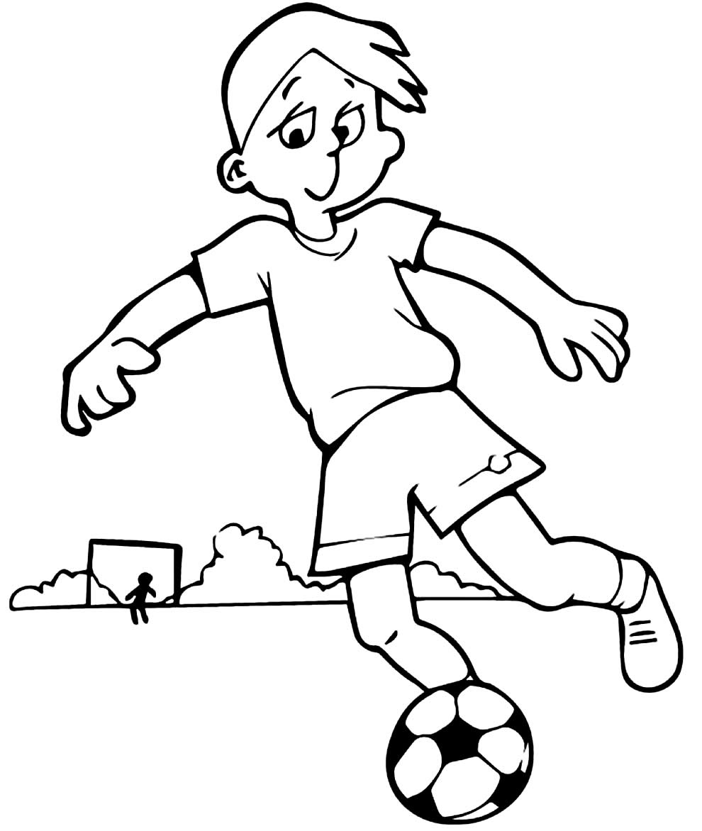 Desenho de bola de futebol para colorir