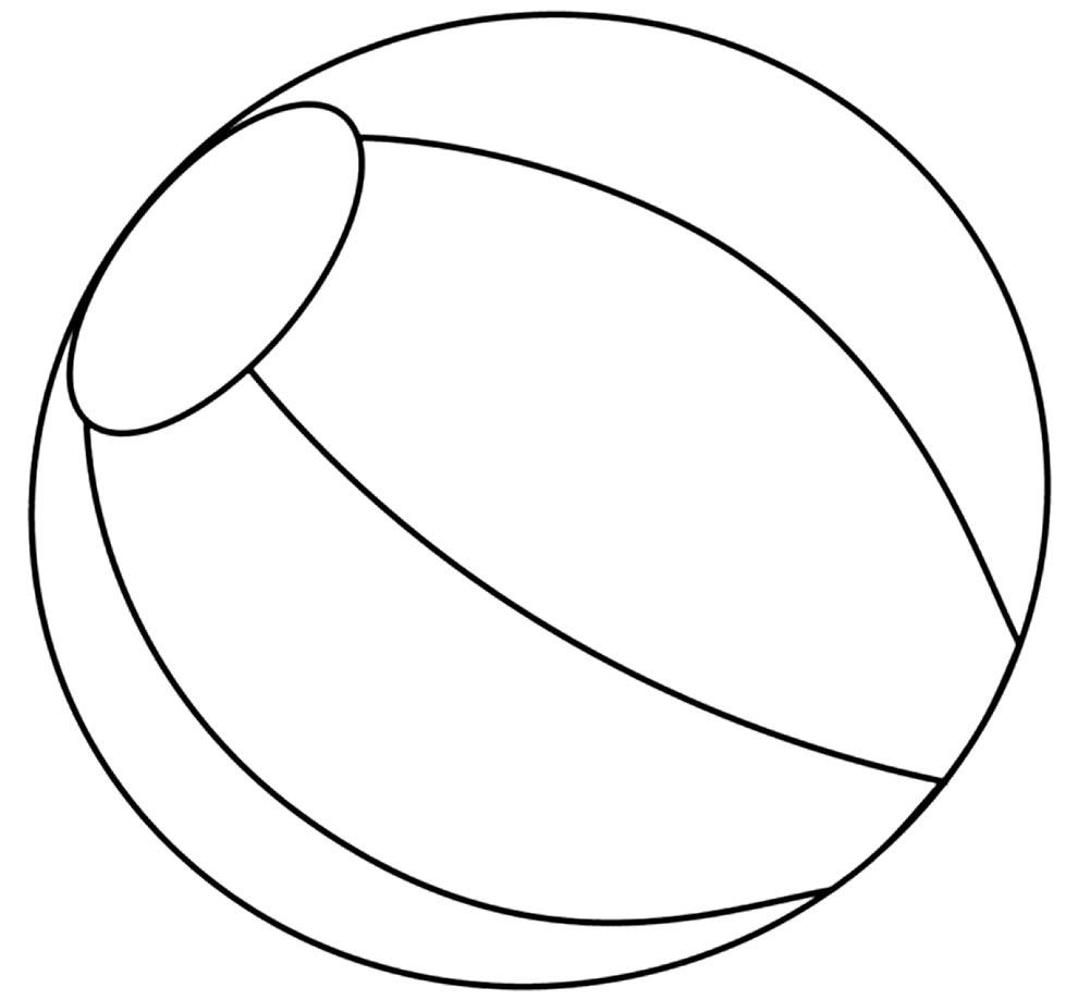 Imagem de bola para colorir